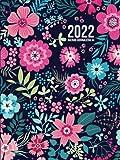 Agenda 2022 Giornaliero A4: 12 mesi da gennaio a dicembre 2022, grande | una pagina al giorno | agenda 365 giorni | copertina rigida, floreale