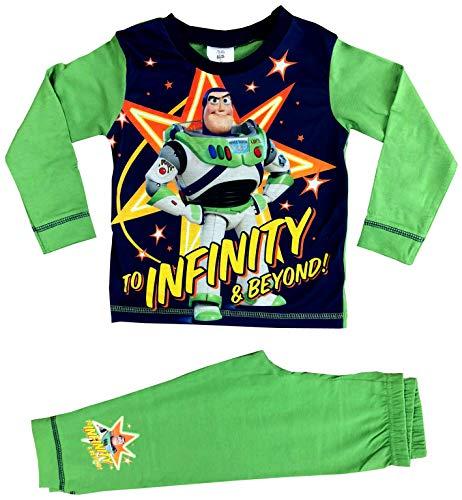 Toy Story 4 Jungen-Schlafanzug-Set Gr. 3-4 Jahre, Buzz Lightyear Grün