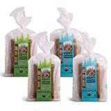 Happy Campers Variety Pack Gluten Free Bread, 2 Loaves White Whole Grain and 2 Loaves Hemp Multi-Seed, Non-GMO, Vegan, Organic, 16.2-17.4 Oz Loaves (Pack of 4)