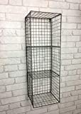 the-E-partment-store Industrial Wire 3 Shelf Wall Unit