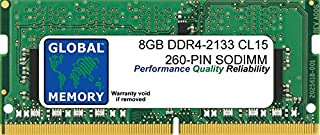 GLOBAL MEMORY 8GB DDR4 2133MHz PC4-17000 260-PIN SODIMM - Memoria RAM para Ordenador portátil o de Bolsillo