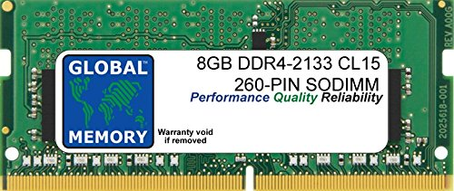 8GB DDR4 2133MHz PC4-17000 260-PIN SODIMM MEMORY RAM FOR LAPTOPS/NOTEBOOKS
