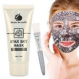 Gesichtsmaske, Natural Face Peel off feuchtigkeitsspendende Maske, Sky Glow Glitter Pailletten Stars Gesichtsmaske Hautpflege für alle Hauttypen mit Pinsel 60g