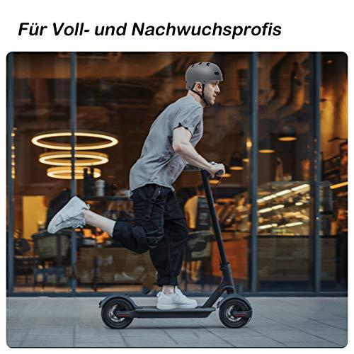 Vihir Erwachsene Fahrradhelm Skaterhelm E-Scooter E-Roller BMX Fahradhelm Herren Damen Sport Helm für Männer & Frauen Schwarz Weiß Dunkelgrau (L/XL 56-62CM, Holzmaserung) - 8