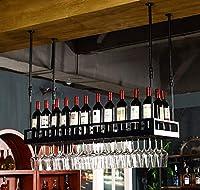 LXD ワインラック、ワインラック、ぶら下げゴブレットホルダー、クリエイティブワイングラスホルダー - ワイングラスホルダー,A,80X35Cm