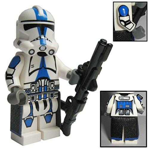 Custom Brick Design 501st Legion Clone Trooper Figur V.1 - modifizierte Minifigur des bekannten Klemmbausteinherstellers und somit voll kompatibel zu Lego