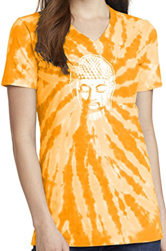 Yoga Clothing For You Ladies Little Buddha Tie Dye V-Neck Tee, 4XL Gold