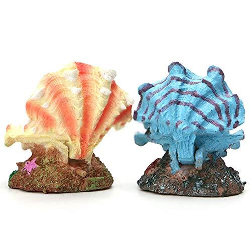 Aquariumdecoratie voor aquarium, 2 stuks, decoratie voor aquarium, decoratie voor aquarium, aansluiting van de luchtpomp, voor luchtbellen op kantoor, woonkamer, cadeau voor studie