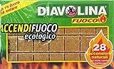 Diavolina accendi griglia - 500 gr [28 accensioni naturali]