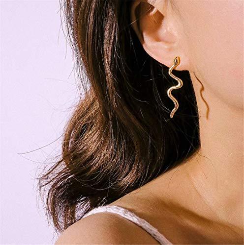 Madlst Punk Schlangen-Ohrringe, Legierung, für Damen und Mädchen Gold