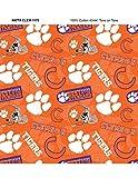 Clemson Tigers Baumwoll-Stoff mit neuem Farbton