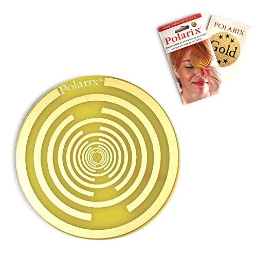 Polarix© Gold-Schmerzlindernde Scheibe Chakra Heiltherapie Schmerzlindernde Pflaster als alternative Medizin für Schmerzmittel mit therapeutischer Unterstützung von Gold Lakhovsky&Tesla Design-80mm