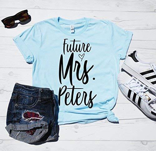 Future Mrs Shirt, Future Mrs Last Name, Personalized T-shirt, Custom Last Name Shirt, Bride to Be Shirt, Bride Shirt, Engagement Tee Shirt