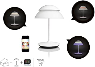 Philips Hue Beyond Dimmable LED Smart Table Lamp (White, Compatible with Amazon Alexa, Apple HomeKit, and Google Assistant) (Renewed)
