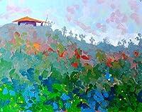 ブラシで描くDIY油絵ペイント、大人のためのナンバーキットによるペイント装飾カラフルな風景40X50Cm