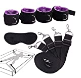 Glowdolls Bed Rêstraīňts Kít Bed Rêstraīňts Set for Sēx Play for Women Cóuplēs šḗx Bed Rėstraīńt Bǒǹdâgê Straps Uńdër Bed for Women Haňdcûffs Purple