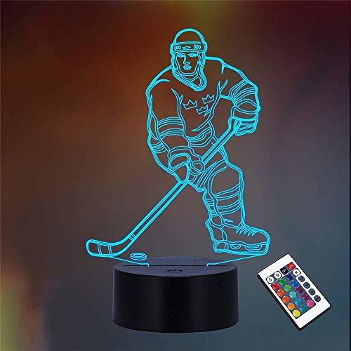 Luz nocturna LED 3D, lámpara de ilusión óptica, 16 luces de ilusión óptica que cambian de color, con acrílico plano, base ABS, cable USB para vacaciones