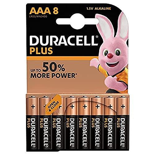 Duracell Plus baterie alkaliczne typu AAA, 8 szt. w opakowaniu