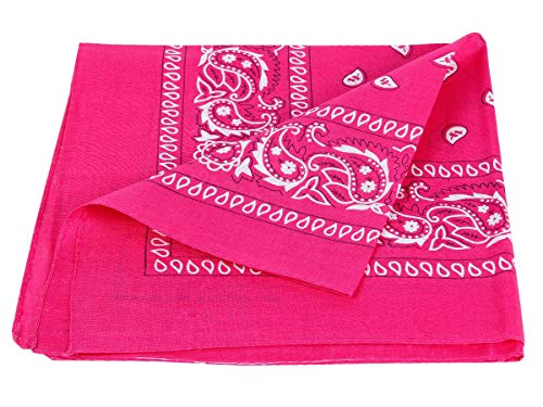 Alsino Bandana Zandana Kopftuch Halstuch Paisley Muster 100% Baumwolle (pink 93)