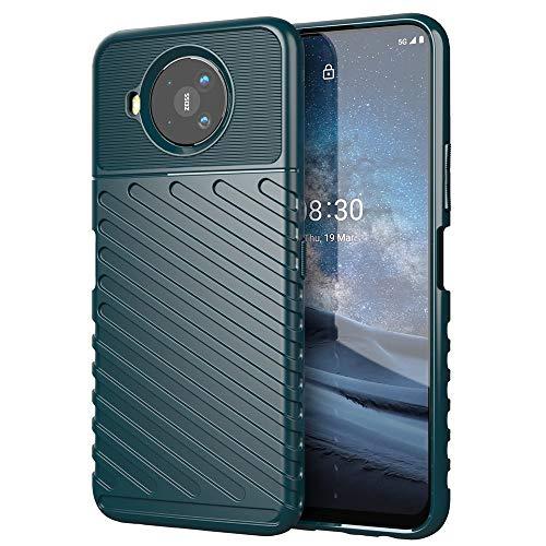 Haotian Passend für Nokia 8.3 5G Hülle, Ultra Thin TPU Silikon Handyhülle Das rutschfest Back-Twill-Design, Kratzfest Leichtgewichtig & Robuste Schutzhülle. grün