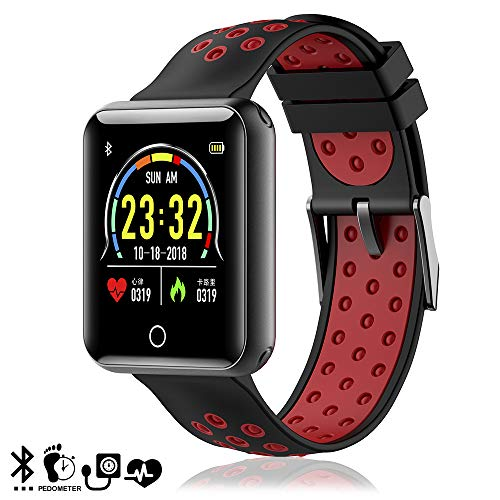 DAM Q19 Bracelet connecté Bluetooth 4.0 Rouge/Noir