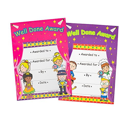 CS Kids CT01 – Well Done onderscheidingen certificaat (Pack Of 36)