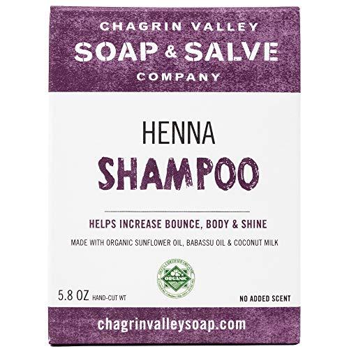 Organic Natural Shampoo Bar, Henna, Chagrin Valley Soap & Salve