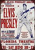 Mr.sign Elvis Presley Concert Florida Theatre Blechschilder