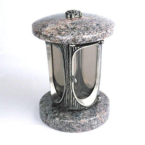 designgrab Alu Grablampe aus Aluminium in Antikoptik in Granit Himalaya