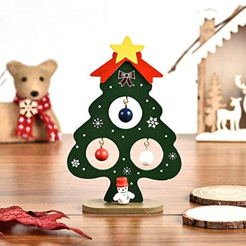 Ksnrang Pequeño árbol de Navidad de Madera Decoración de árboles DIY DIY Intelligence Juguete Mini árbol de Navidad Árbol de Navidad Verde