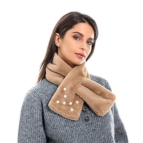 COLiJOL Bufanda Gruesa para Mujer Mujer 's Invierno Cálido Color Saaje Collar de Perlas Cálido Bufanda Adecuado para Todos Los Días (Color: B, Tamaño: 80X13Cm),H,Los 80X13Cm