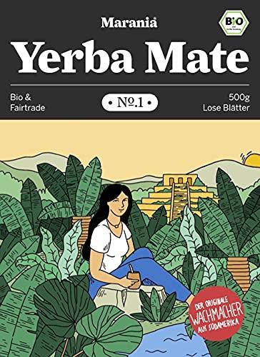MARANIA® Yerba Mate Tee Bio No.1 ● Vergleichssieger 2020¹ ● 500g loser Tee ● Grüner Tee lose ● Wachmacher Tee mit Koffein