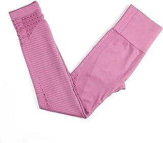 Fitness Clothes Women's Tight High Waist Elastic Hip Running Yoga Pants,Pink,M