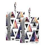 Hunihuni Bolsa de viaje para zapatos geométricos triángulo de galaxia impermeable, organizador de zapatos con cremallera, 2 unidades