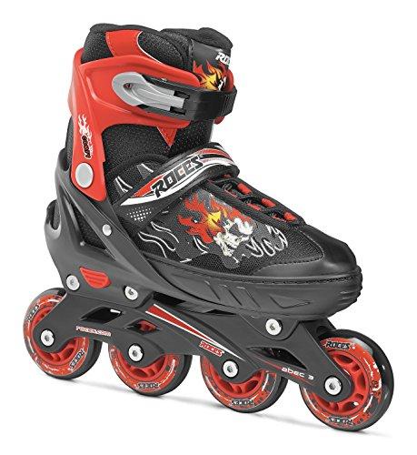 Roces Compy 6.0 Boys Inline Skates, Boys', 400808-001, Black/red, 30-33