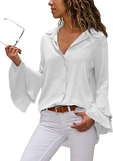 Amazon.es: Con botones - Blusas y camisas / Camisetas, tops y ...