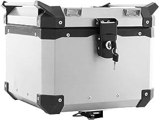 Baú Alumínio Traseiro Top Case 35 Litros Super Adventure Modelo Universal Alumínio Escovado