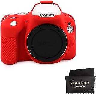 kinokoo Funda de silicona para funda protectora para Canon EOS SL3 / SL2 Canon EOS 250D / 200D / 200D II (rojo)
