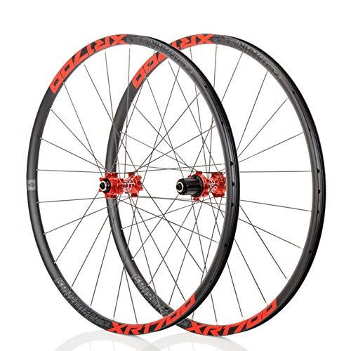 Mountain Bike 26/27,5 Pouces VTT Roues, Classique VTT, Route Racing Jantes en Alliage, NBK F2 / R4, système de 6Pawls, Convient for Les vélos de Route, Course VTT (Noir/Rouge) (Size : 26\