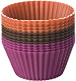 Chicago Metallic Silicone Baking Cups, Multi Color