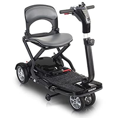 Pride Mobility Quest 4mph Folding Travel Mobility Scooter - Red