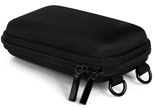 Baxxtar Hardcase Pure Black S Kameratasche mit Schultergurt & Gürtelschlaufe (schwarz) - kompatibel mit IXUS 185 190 - Cybershot W830 WX350 - Coolpix A10 etc