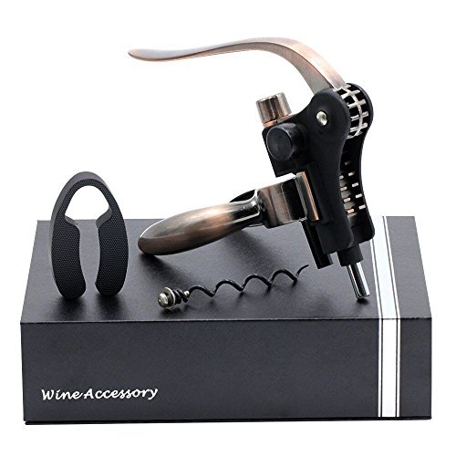 Yuri Milner Rabbit Wine Bottle Opener Corkscrew Set with Foil Cutter and Extra Screwpull with Gift Package