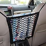 MINISTAR Bolsa de almacenamiento de malla para el coche, organizador elástico, bolsillo, accesorios, para viajes, perro, asiento trasero, barrera