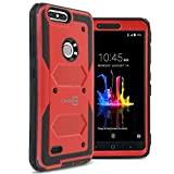 CoverON Heavy Duty Full Body Tank Series for ZTE Blade Z Max/ZMax Pro 2 / Sequoia Case, Red