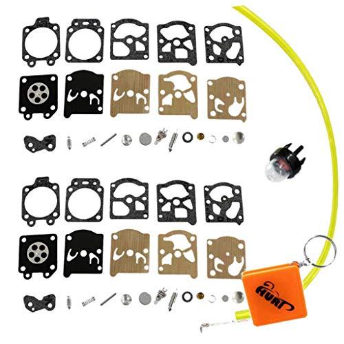 HURI 2 Stück Reparatursatz (23 Teile) Kit Membran Filter Ventile Federn für Walbro WA & WT Vergaser Echo STIHL Dolmar FS MS Husqvarna Partner