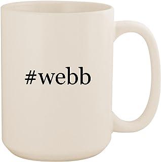 #webb - White Hashtag 15oz Ceramic Coffee Mug Cup