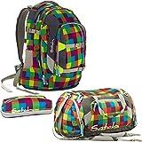 Satch Pack by Ergobag Beach Leach 3er Set Schulrucksack + Sporttasche + PenBox