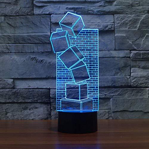 Nachtlampje, led-tafellamp, illusie, kleurrijk koele kunst, nachtlampje, kerstmis, sprei, cadeau, romantische vakantie, leuke creatieve gadget-touch