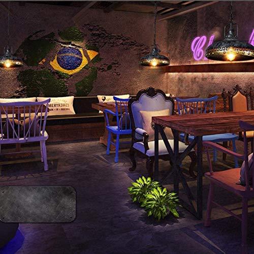 DEJ Design hanglamp, retro vintage, hanglamp, creatief, ijzeren lampenkap, plafondlamp, loft hanger, lamp E27, decoratieve verlichting voor eetkamer, eettafel, café, 32 cm